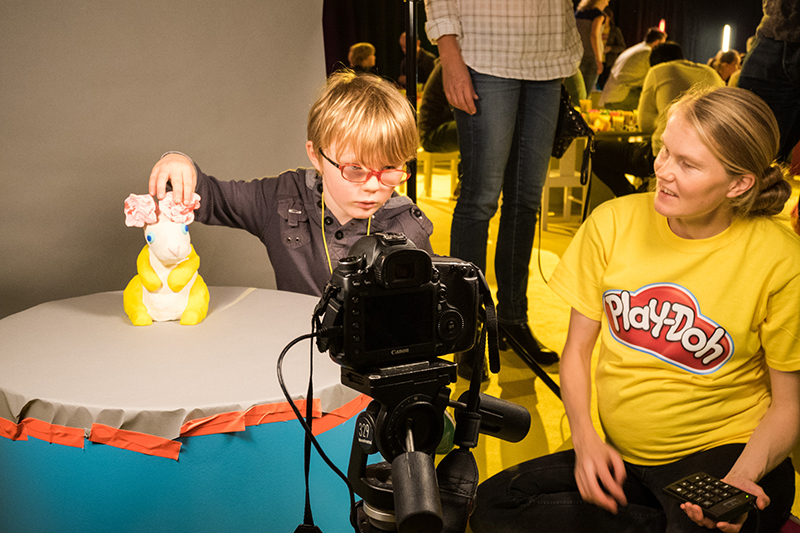 Play-Doh animation workshop at the Science Museum in London.
